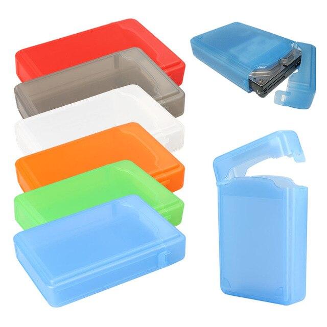 2019 MỚI t 1 cái Nhựa Full Case Bảo Vệ Lưu Trữ Ổ Cứng Hộp 3.5 Inch IDE SATA IDE SATA