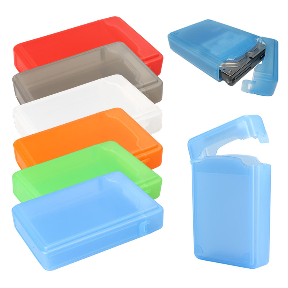 где купить VAKIND 1pcs Plastic Full Case Protector Storage Hard Drive Case Box For 3.5 Inch Hard Drive IDE SATA IDE SATA Hard Drive дешево