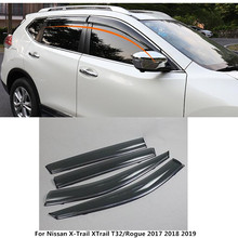 Автомобиль покрытие палку лампа пластиковые окна стекло Ветер козырек Дождь/Защита от солнца гвардии Vent 4 шт. для Nissan X- trail, PDF T32/Rogue 2017 2018 2019