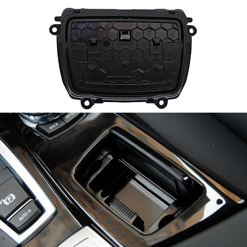 Otomobiller ve Motosikletler'ten Araba Küllüğü'de Yeni siyah plastik merkezi konsol küllük montaj kutusu Fit Bmw 5 serisi için F10 F11 F18 51169206347 title=