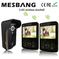 hot  new wireless video doorbell one camera with two monitors 3.5inch easy to install free shipping
