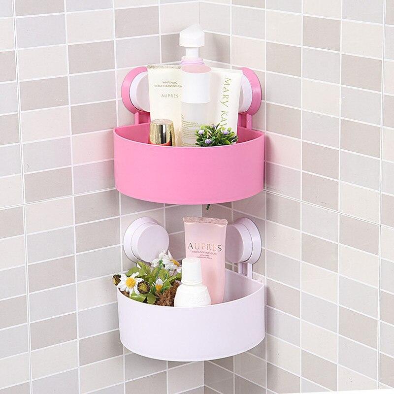 Bathroom Corner Storage Rack Organizer Shower Wall Shelf With Suction Cup Home Corner Kitchen Bathroom Shelves Mx3041654
