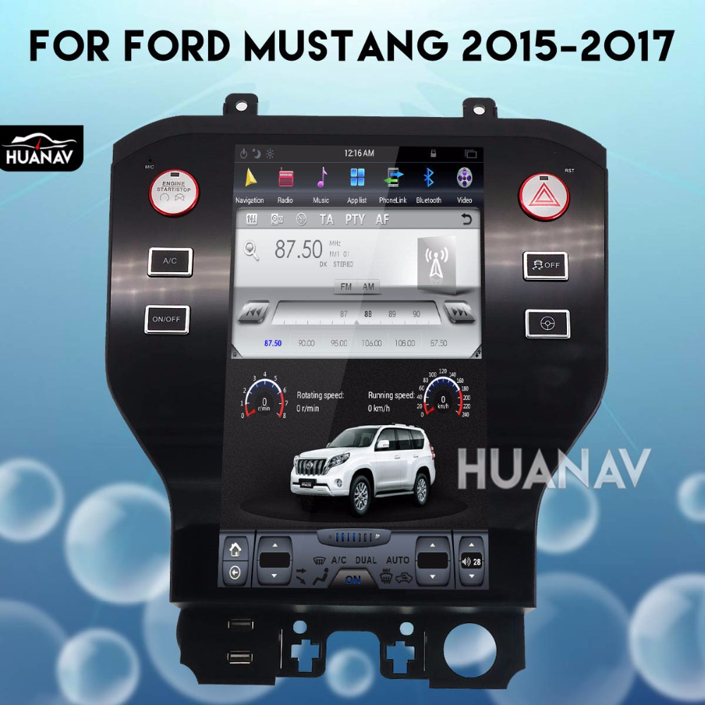 Tesla style Car GPS Navigation Multimedia Play Entertainment 1 Din Display for Ford Mustang 2015 2016 2017 stereo No DVD Player image