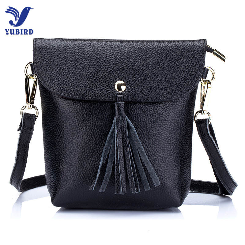 YUBIRD New Female Messenger Bags Feminina Bolsa Genuine Leather Tassel Women Bags For iphone 2018 Sac a Main Ladies Shoulder Bag
