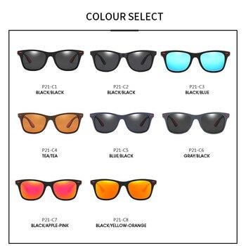 ZXWLYXGX Classic Polarized Sunglasses Men Women Brand Design Driving Square Frame Sun Glasses Male Goggle UV400 Gafas De Sol 8