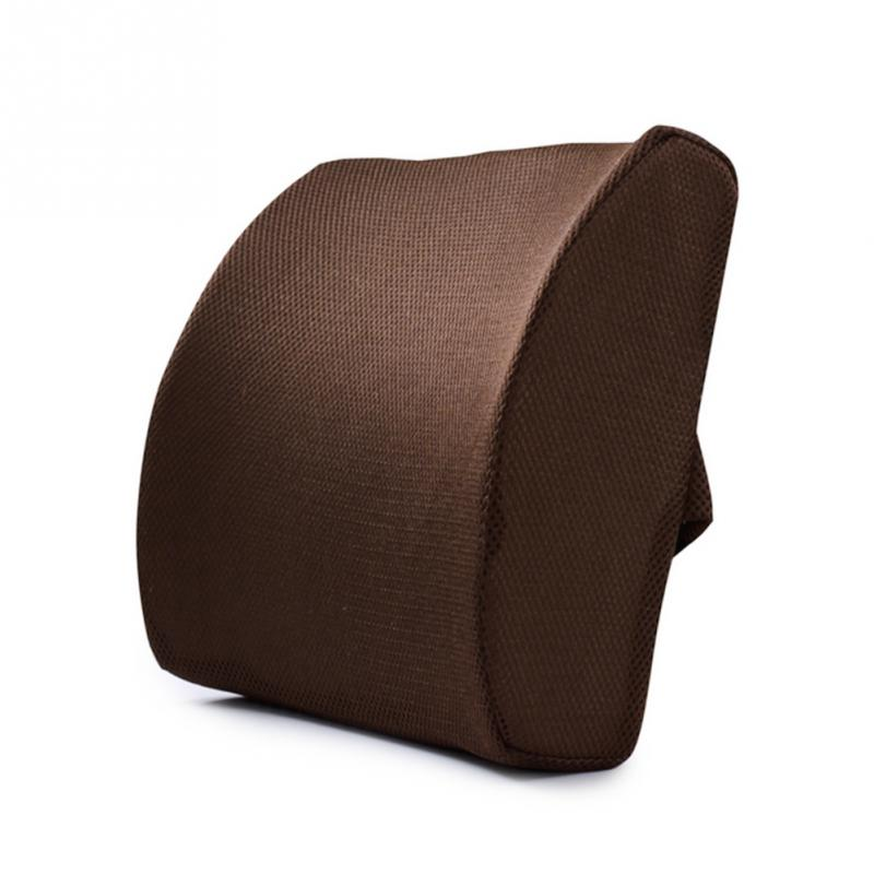 Memory Foam Lumbar Cushion Lower Car Auto Back Support Pillow Posture Correcting Car Seat Home Office Chair Emoji Pillow in Cushion from Home Garden