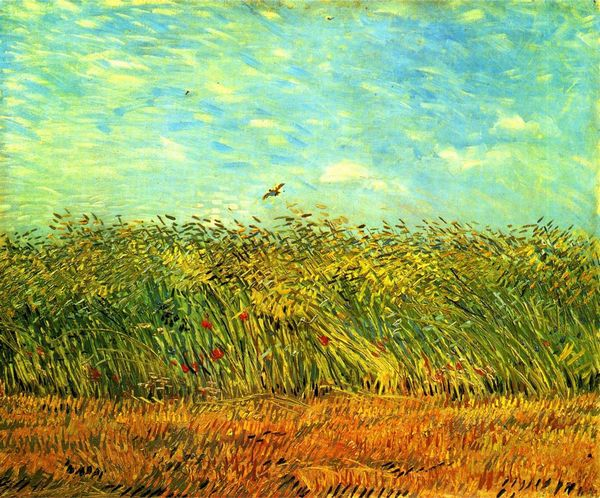 Reproduction oil painting Van Gogh art Wheat Field with a Lark natural scenery paint for bedroom decoration No Frame