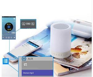 Image 2 - Kuliai nacht licht mit bluetooth lautsprecher, tragbare wireless bluetooth lautsprecher SHAVA touch control farbe LED nacht licht