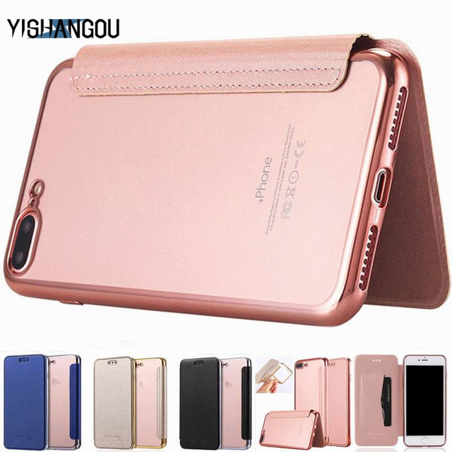 buy popular b906f a5b9d US $2.69 10% OFF|Luxury Wallet Flip Book PU Leather Phone Case For iPhone X  XR XS Max 5 5S SE 6 6S 7 8 Plus Transparent Clear Back Cover Shell-in Flip  ...