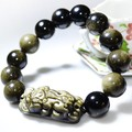 Man Bracelet Feng Shui Wealth Pixiu Bracelet Jewelry Lucky Animal Bracelet Obsidain Piyao Beaded Bracelet Jewelry