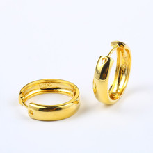 d58e61834 Women's Plain Smooth Hoop Earrings Yellow Gold Filled Minimalist Small  Circle Round Huggies Earrings Mother's Day