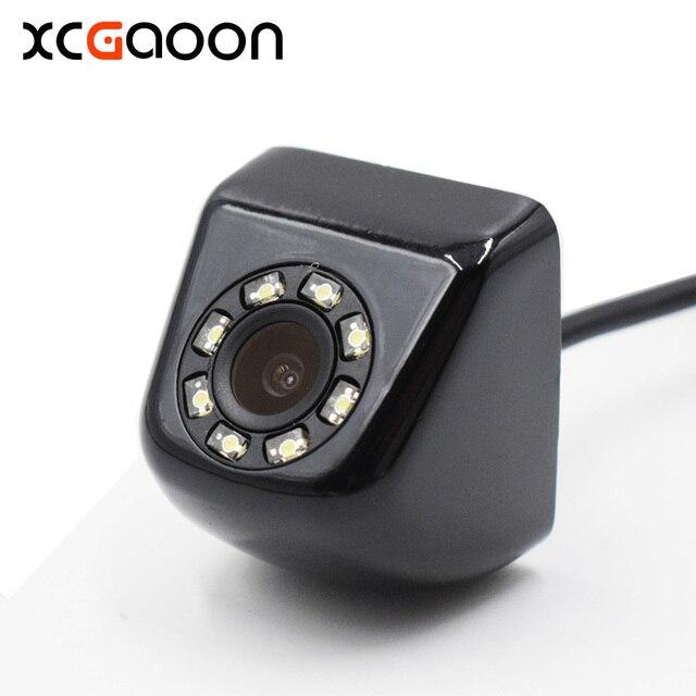 НОВЫЙ CCD HD камера заднего вида Камера реального Водонепроницаемый широкий угол обзора 140 градусов 8 светодиодов ночного видения Парковка Реверсивный помощь 4 pin Порты и разъёмы