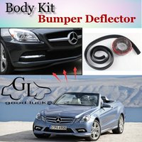Bumper Lip Lips For Mercedes Benz CLK C208 A208 C209 A209 C207 A207 1996~2015 / Spoiler For Car Tuning / Body Kit + Strip