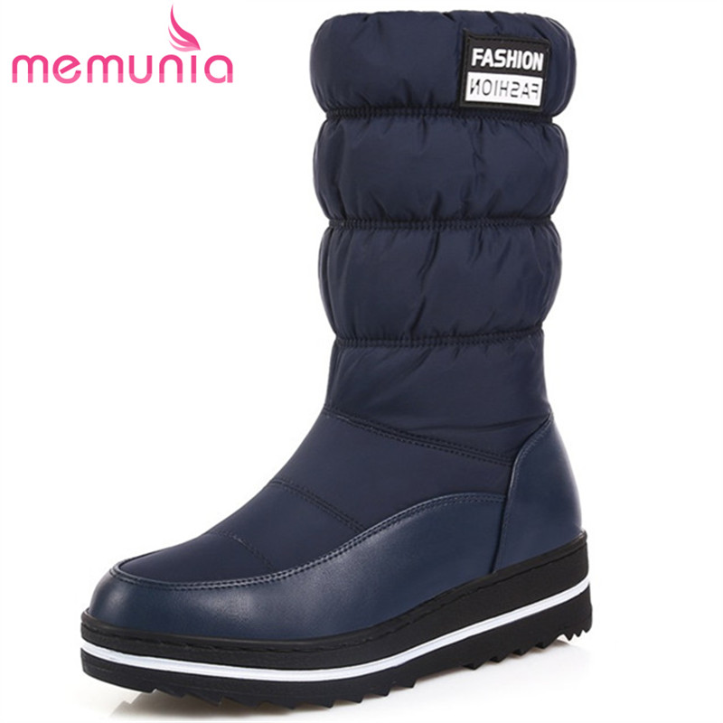 MEMUNIA 2017 Hot sale new arrive winter boots for women keep warm mid calf boots woman fashion platfrom snow boots memunia 2018 hot sale new women boots