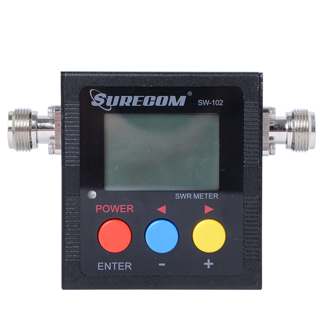 SURECOM SW-102 100-520 МГц Цифровой VHF/UHF Мощность и КСВ-Метр Для handheld Двухстороннее Радио SW102 Walkie Talkie