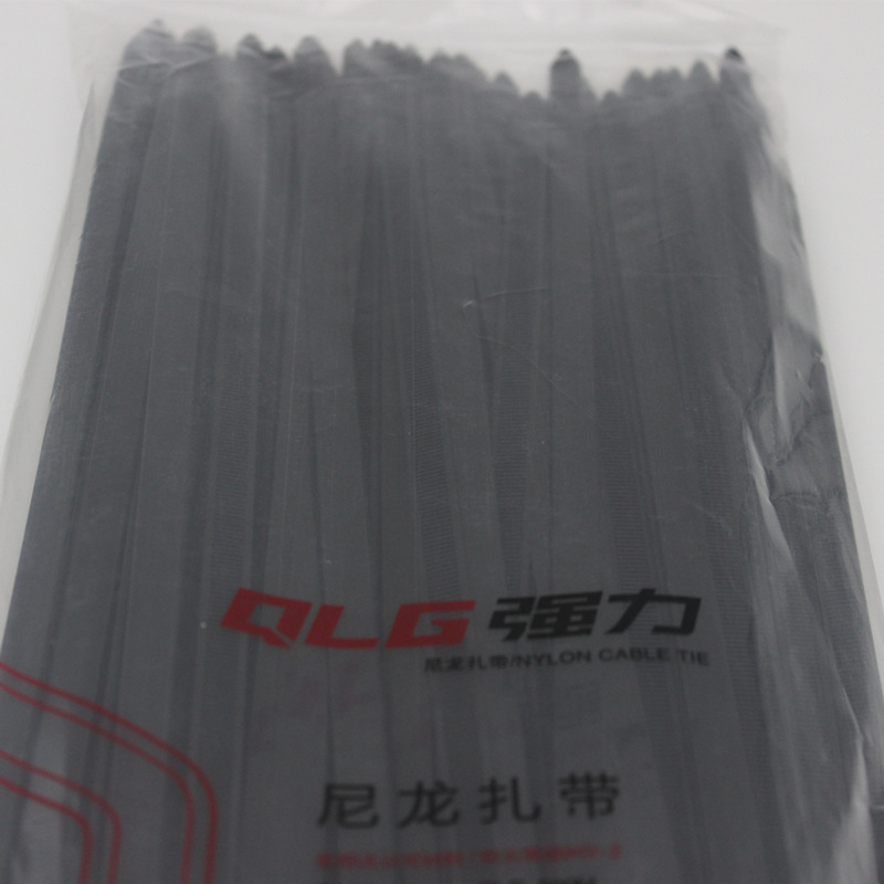 100Pcs/pack 10*400mm high quality Width 9.0mm black color National Standard Plastec self-locking nylon cable ties,wire zip tie
