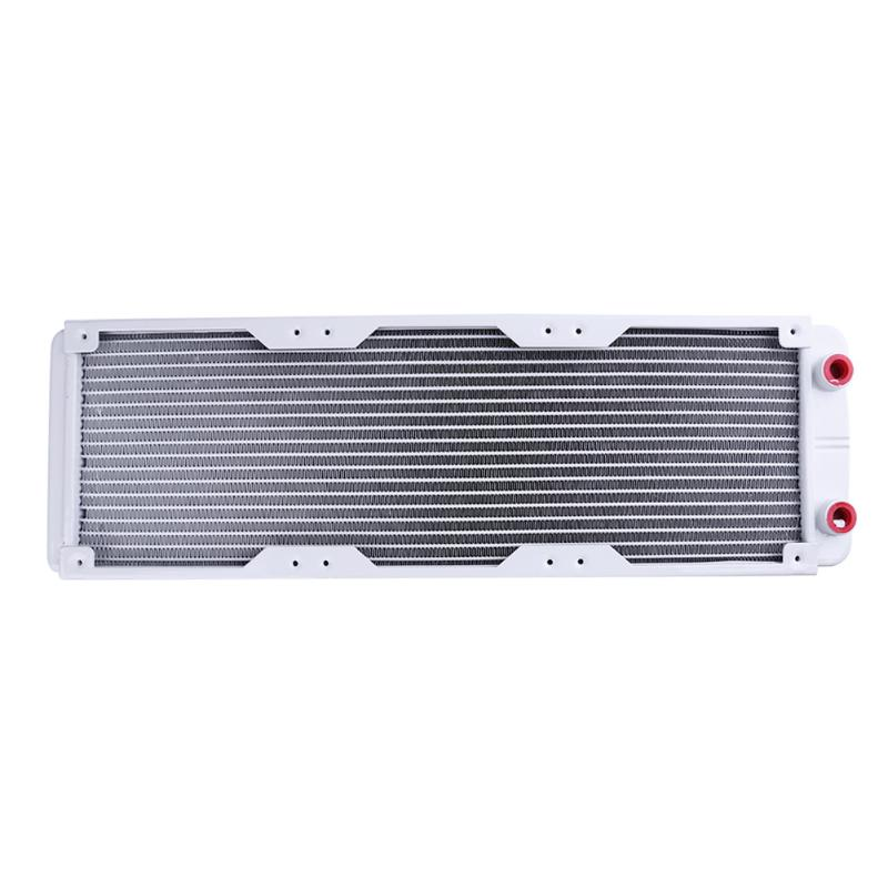 360mm white 18 Tubes G4/1 Aluminum Computer Radiator PC Case Water Cooling Cooler Heat Sink Heat Exchanger CPU GPU Heatsink 240mm water cooling radiator g1 4 18 tubes aluminum computer water cooling heat sink for cpu led heatsink heat exchanger