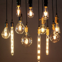 10 Sztuk Ampułka Vintage Edison Żarnika Żarówki LED Światła LED Światła 2 W 4 W 6 W Retro Szkło Candle Light Dekoracyjne żarówki Żarówki