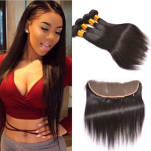 Amazing Hair Company Brazilian Straight Ear To Ear Lace Frontal Closure With Bundles Stema Hair 3 Bundles With Frontal Closure