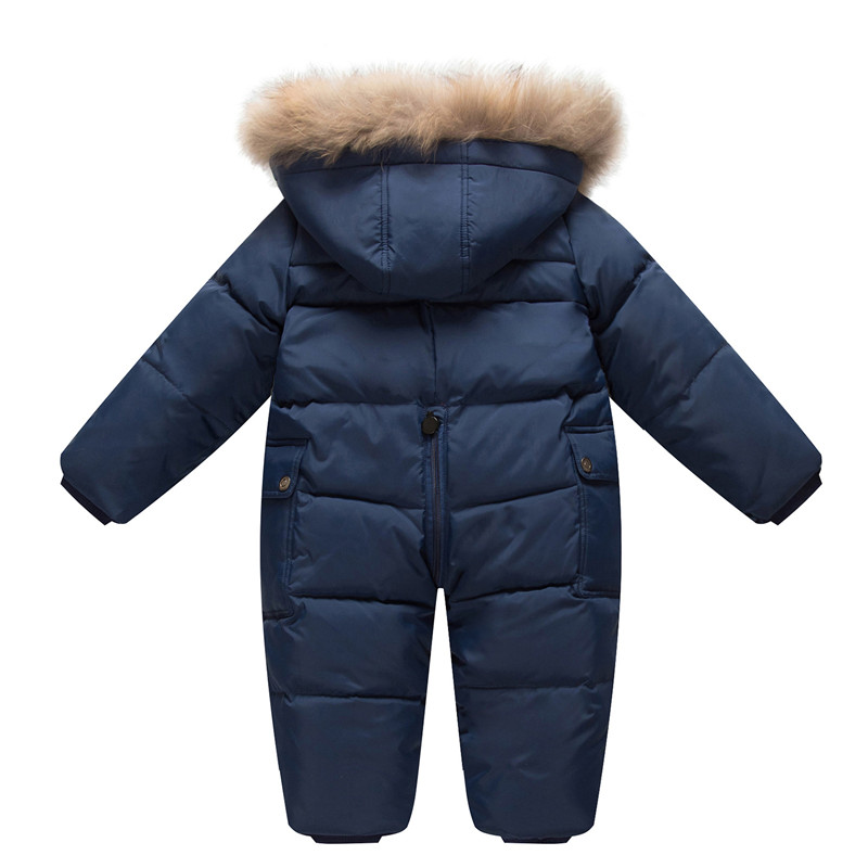 66b29eef5031 Холодная зима костюмы для малышей Одежда для новорожденных теплая ...