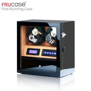 Image 2 - FRUCASE ملفاف ساعة صندوق ساعة عرض ساعة خزانة ساعة جامع تخزين مع شاشة LED باللمس عرض 4 + 5