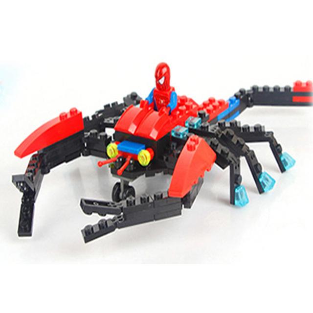 Kazi Superman Thunder Dragon Spiderman Red Police Terminator Vastness Spider Model Building Toys For Children With Original Box