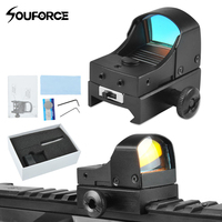 Di alta Qualità Tattico Mini Red Dot Sight Compact Olografico Reflex Micro Red Dot Sight Scope Rifle & Pistol per Airsoft