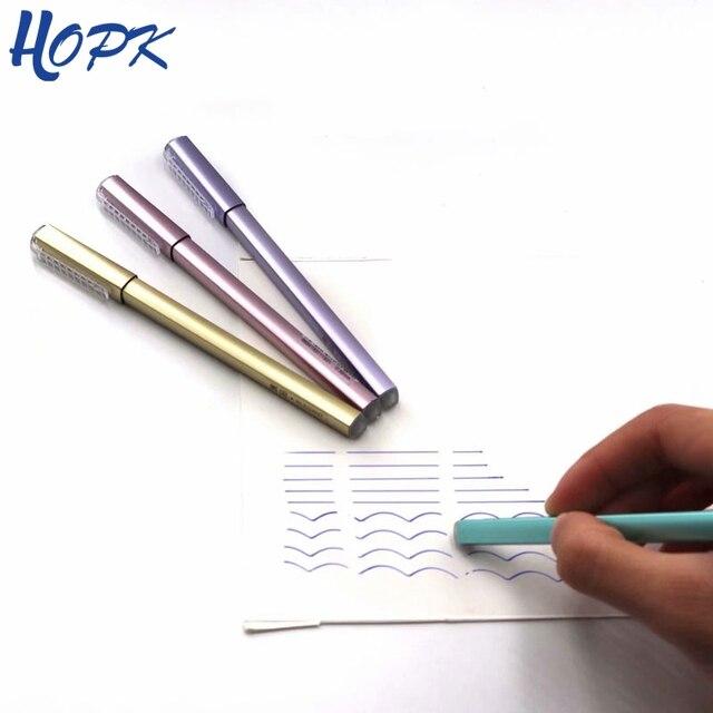1 piezas al azar pluma borrable 0,38mm azul/negro de recarga de tinta pluma de Gel de varilla para manejar la escuela suministros de oficina herramienta de papelería
