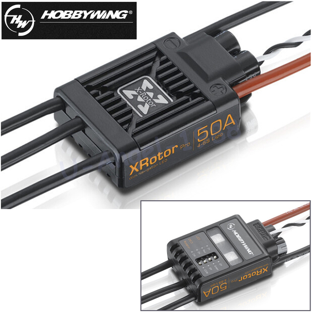 2Pcs/lot Hobbywing XRotor Pro 50A 4-6S Brushless speed controller ESC Multi-Rotor Aircaft DIY For RC Drone