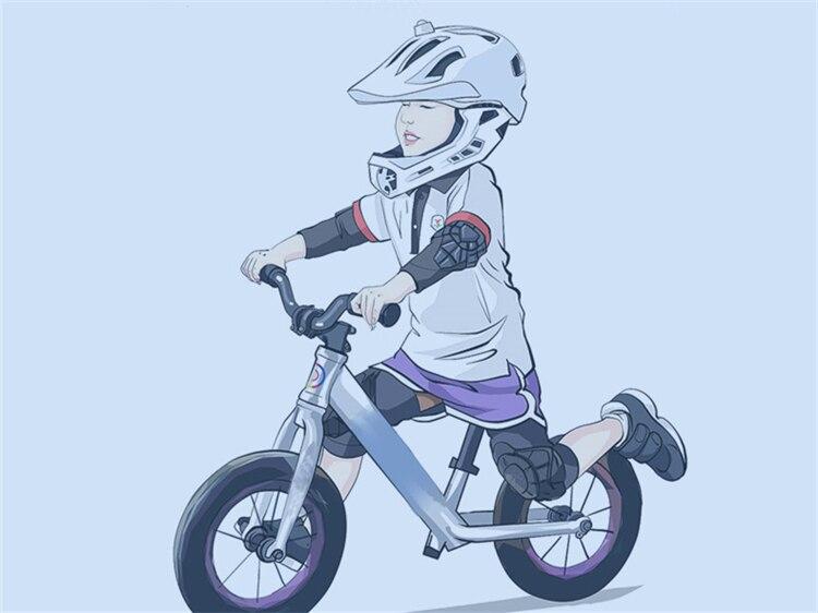 HTB1deu7XOYrK1Rjy0Fdq6ACvVXa7 - 4Pcs set 2-10 Year Old Kids Cycling Knee Pad And Elbow Pads Balance Bike Children Protector