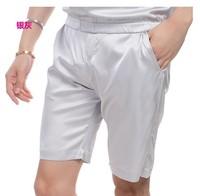 Silk shorts, men's breathable cool silk, beach shorts, men's casual waist and waist pockets. 2020