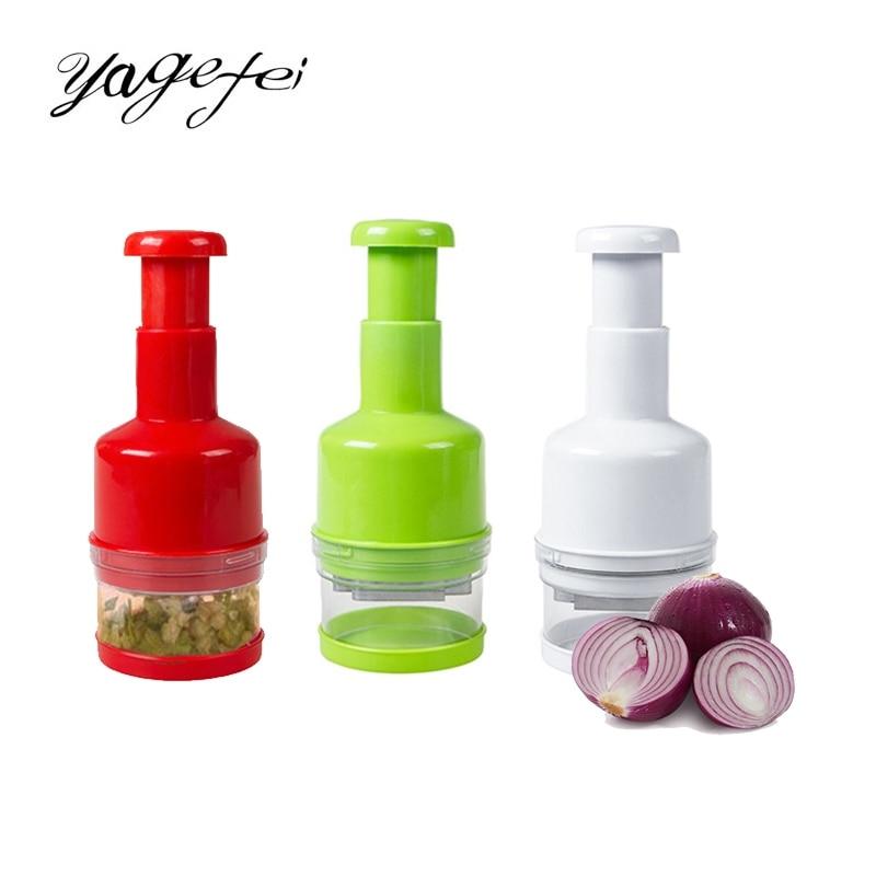Kitchen Shredders&Slicers Veggie Chopper Stainless Steel Manual Cut Garlic Tool Manual Vegetable Food Chopper