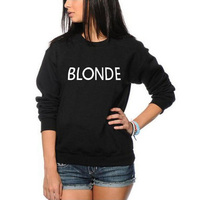 Blonde Sweatshirt Funny BFF Slogan Women Top Cute Womens Hoodies Pullove Round Neck Women S Tracksuits