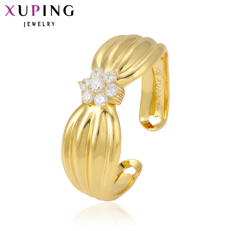 11.11 Deals Xuping Fashion Bangle Luxury New Style Jewelry Women Gift Trendy Gold Color Charm Wholesale for Women Gifts S4-51042