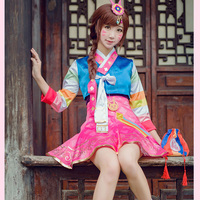 Fantasy Watch Over D V A Cosplay Suit Coat Dress Korean Clothing Design Cos Dva Clothes