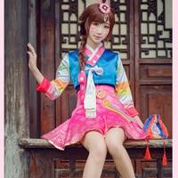 Fantasy Watch Over D V A Cosplay Suit Coat Dress Korean Clothing Design Cos Dva Clothes