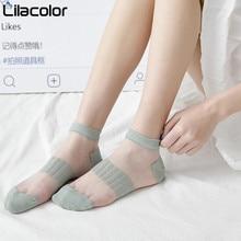 Striped Mesh Women Short Socks Spring Summer Lady Girls Thin 1 Pair