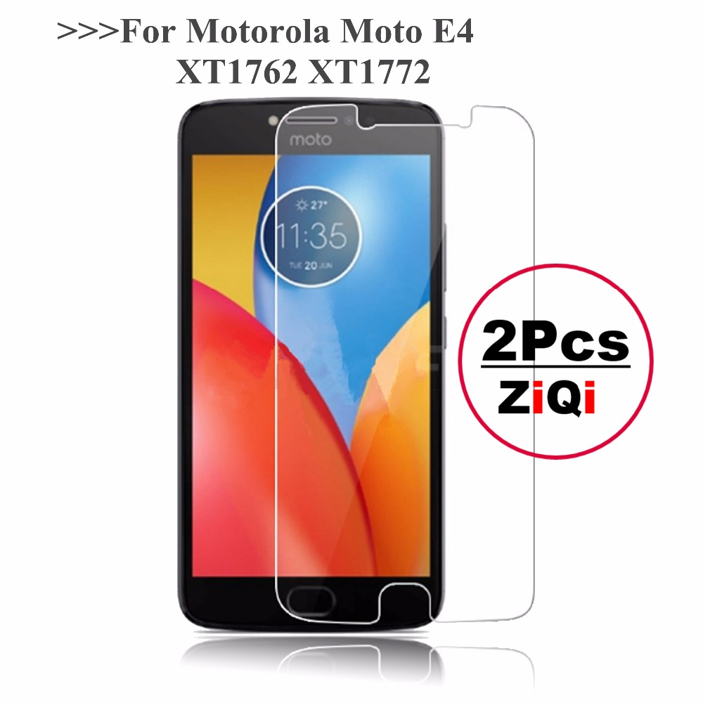 2Pcs 2.5D 0.26mm 9H Premium Tempered Glass For <font><b>Motorola</b></font> Moto <font><b>E4</b></font> <font><b>XT1762</b></font> XT1772 <font><b>Screen</b></font> Protector For Moto E 4 4th protective film image