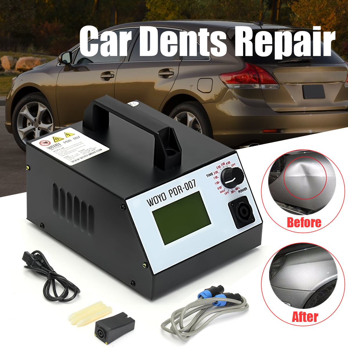 100-120V PDR007 Metal Repair Tools HotBox Removing Dents Sheet Induction Heater 500pcs stud welder draw pin set for removing dents car body sheet metal 2 0mm