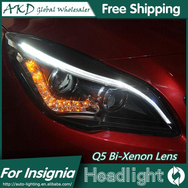 akd auto styling für opel insignia scheinwerfer 2014 2015 insignia