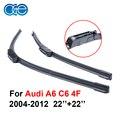 22 ''+ 22'' par silicone wiper blade para audi a6 c6 4f 2004-2012 rubber windshield windscreen melhor auto acessórios