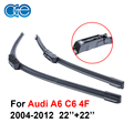 22''+22'' Pair Silicone Wiper Blade For Audi A6 C6 4F 2004-2012 Rubber Windshield Windscreen Best Auto Accessories