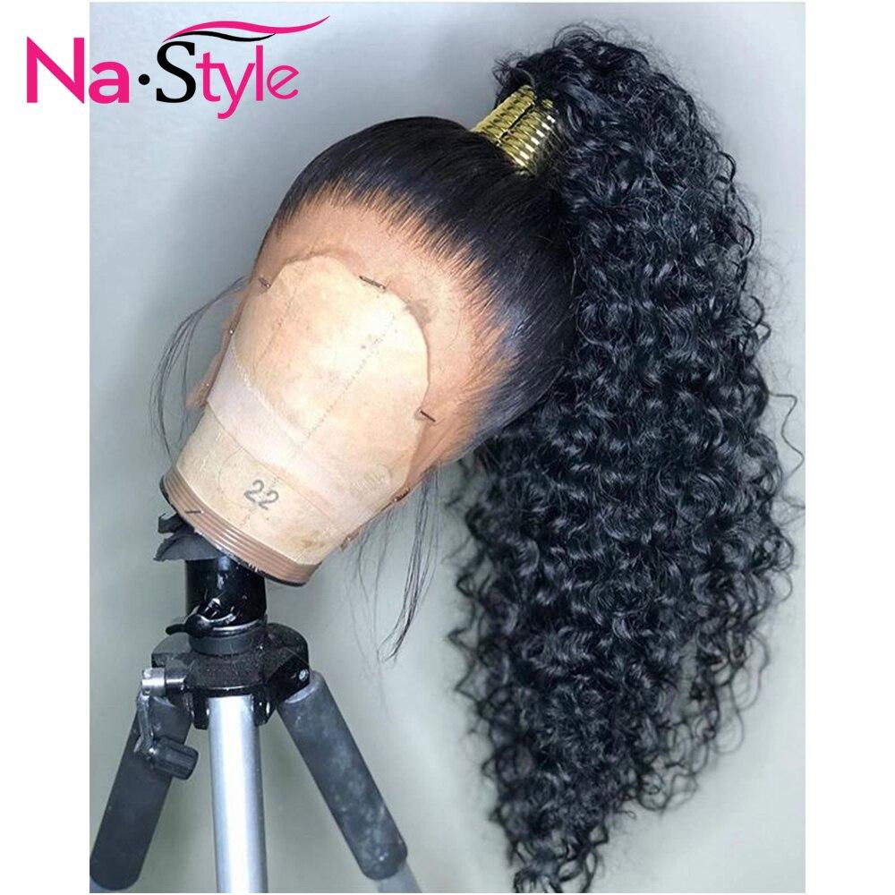 HD Transparent Invisible dentelle perruque 360 dentelle frontale cheveux humains perruques bouclés longs préplumés blanchis noeuds naturel péruvien Remy
