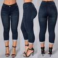 Women Jeans 2017 Spring Fashion Low Waist Casual Skinny Office Pant Pencil Jeans Female XL 2XL Big Size Women Clothing