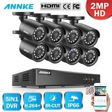 цена на ANNKE 8CH HD 1080P Video Security Surveillance System 5in1 1080N H.264+ DVR 8PCS HD TVI Smart IR Bullet Weatherproof CCTV Camera