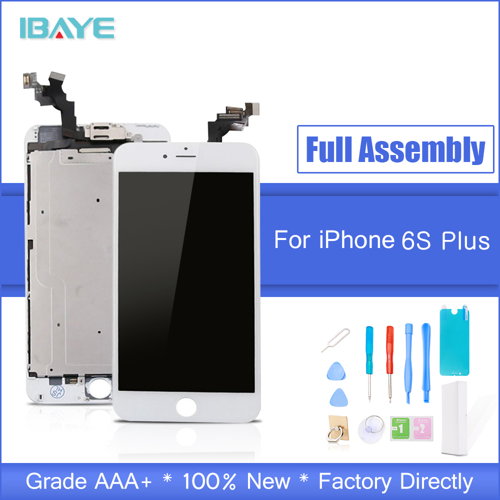 White For iPhone 6s Plus LCD Touch Screen Display Full Complete Replacement Assembly Set Front Camera + Speaker + Home Button image