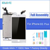 White For iPhone 6s Plus LCD Touch Screen Display Full Complete Replacement Assembly Set Front Camera + Speaker + Home Button