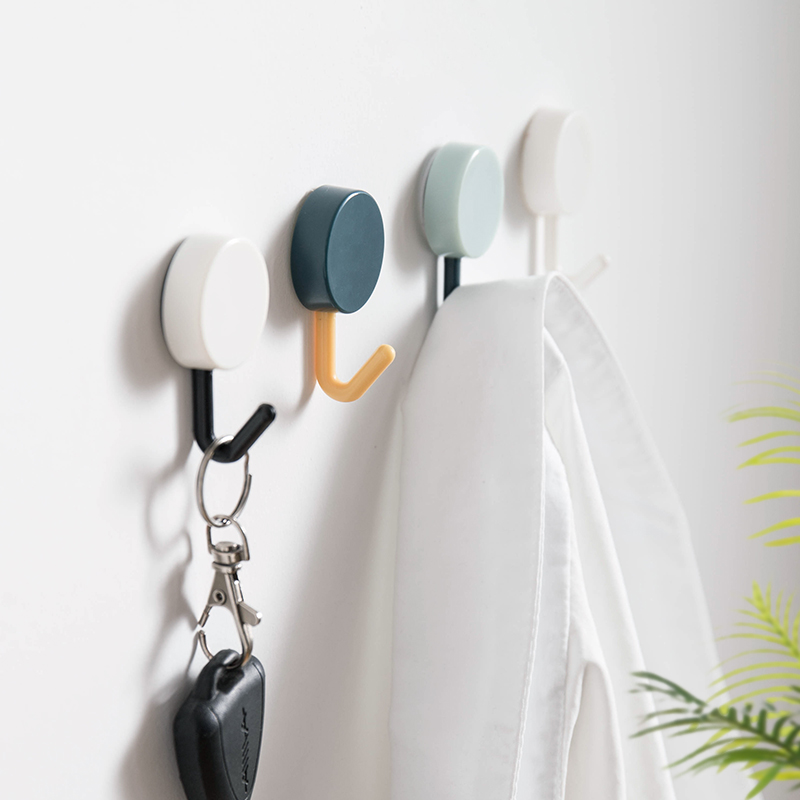 10Pcs/set Adhesive Hook Nordic Minimalist Kitchen Hook Bathroom Clothes Towel Rails Holder Wall Hooks Key Holder Home Decoration