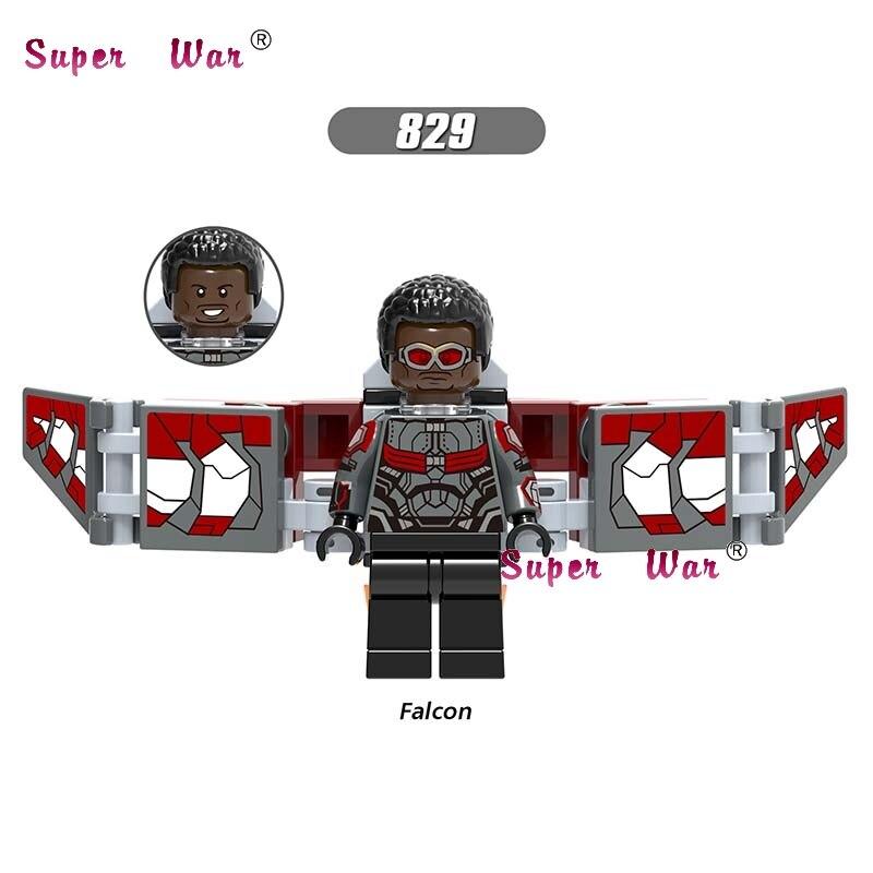 Single Marvel  Avengers 3 Infinity War Part 1 Falcon Iron Man Doctor Strange figure Spider Man building blocks toy for children