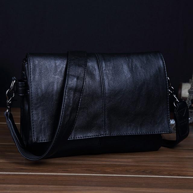 MAGIC UNION Men Leather Shoulder Bag Envelope Style Bag Large-capacity Messenger Bags High Quality Men's Leather Handbags 2